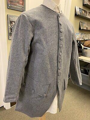 Mid-18th Century, Rev War Man's Frock Coat, GREY WOOL, 40