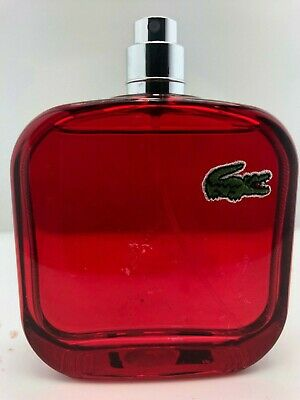 Lacoste L.12.12 Rouge ENERGETIC Red men Cologne 3.4 oz - No Box, No Cap see info