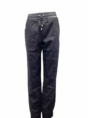 $870 Dolce & Gabbana Italy Men 46W/56 Black Virgin Wool Drawstring Jogger Pants