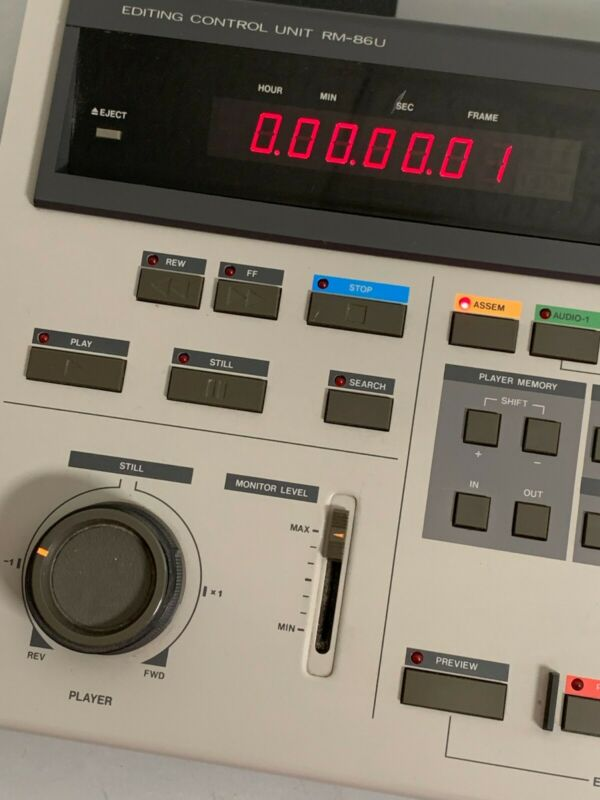 JVC VHS Videotape Editing Control Unit RM-86U with two 45-pin CABLES