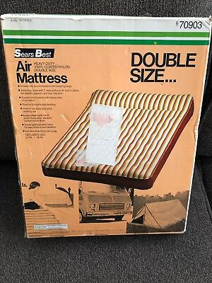 Vintage Sears Best Inflatable Camping Outdoor Van Mattress Air Bed 57