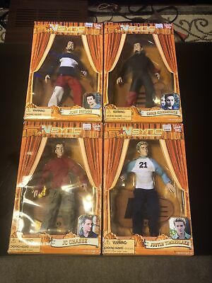 LOT OF 4 NSYNC COLLECTIBLE MARIONETTE 2000 Living Toyz