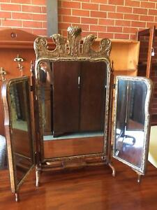 Tri-fold vanity mirror, Antique,Table top,We Can Deliver Brunswick Moreland Area Preview