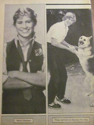 Nancy And Philip Mckeon  Full Page Vintage Pinup