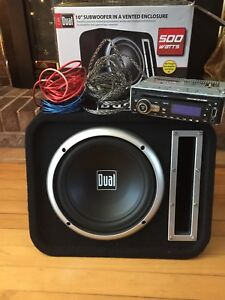 Sound system with sub, amp and stereo