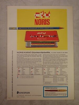 alte Werbung Werbeblatt Blatt Staedtler Noris Karat Dünnkernstifte Stifte