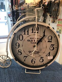 Old Town Rustic London Bicycle Clock NEW
