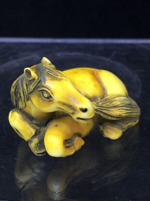 Japanese Netsuke With Horse Design