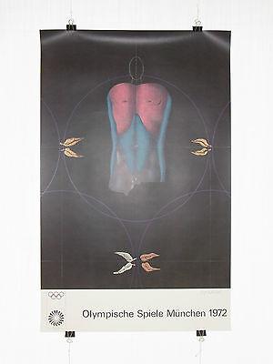Poster Plakat - Olympiade 1972 München - Paul Wunderlich - Moderne