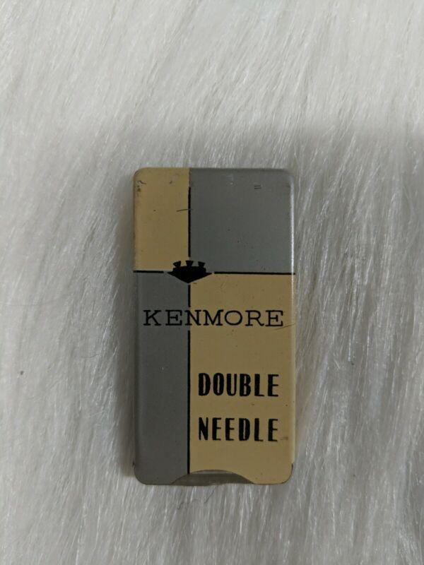 Very Nice Vintage Kenmore Double Sewing Machine Needle, Metal Case