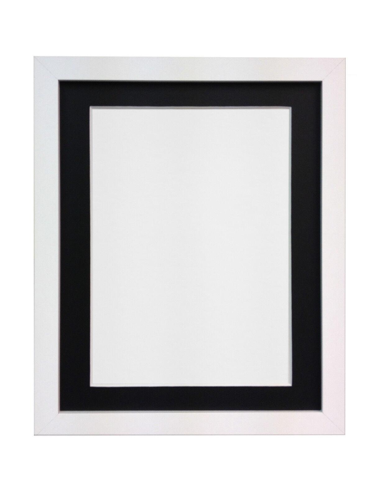 white black large photo picture frames with white ivory or black mounts h7 mdf ebay. Black Bedroom Furniture Sets. Home Design Ideas