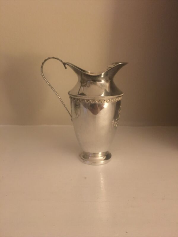 1940's STERLING MINIATURE SILVER PITCHER - NICE DETAIL