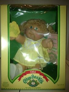 VINTAGE COLECO CABBAGE PATCH KIDS DOLL IN ORIGINAL BOX, 1984 NEW BLONDE HAIR!