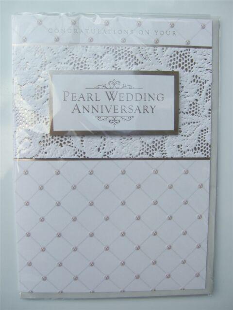 Pearl wedding ANNIVERSARY card by Arnold Barton - HGSPR005Pe