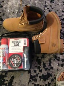 Asking $140 OBO new Timberlands boots and shoe care kit 4 sale
