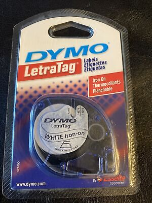 Dymo Letratag Iron-on Fabric Labels. 18771. White 12 X 6.5
