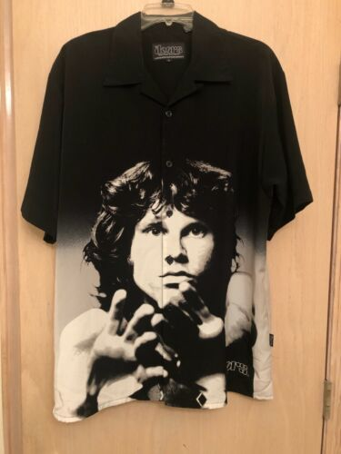 The Doors Jim Morrison Dragonfly Clothing Shirt Mens Large 2002 Excellent! Rare!