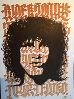 Jim Morrison painting - A4 Surfers Paradise Gold Coast City Preview