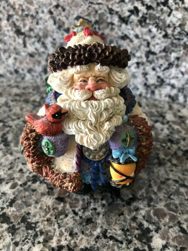 """Collectable Crinkle Santa Claus 4"""" x 3""""    1995 By possible dreams"""