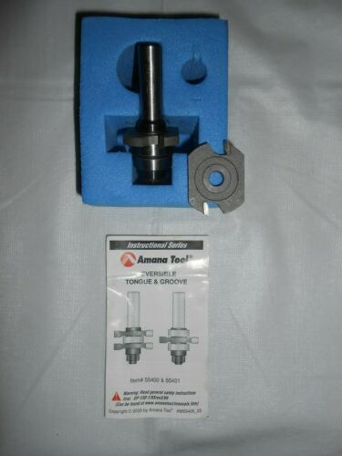 """""""AMANA TOOL 55400"""" TONGUE & GROOVE ROUTER BIT ~ 1-5/8"""" x 3/4"""" ~ 1/2"""" SHANK"""