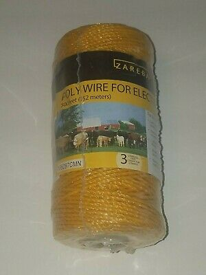 Zareba Poly Wire For Electric Fencing 500 Ft 152 Meters New Sealed 106297cmn