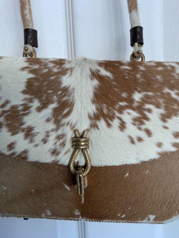 vintage cowhide purse