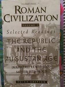 Roman Civilisation The Republic And The Augustan Age Beecroft Hornsby Area Preview