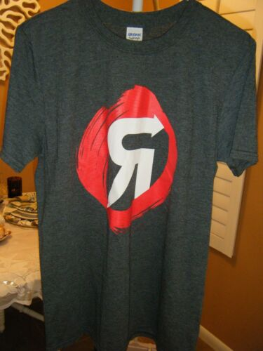 TEAM REVOLUTION GRAY TEE WITH LOGO ON FRONT AND BACK MEDIUM