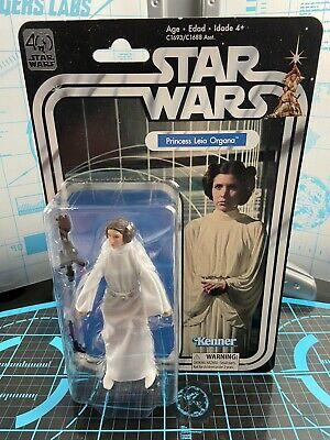 "Star Wars 40th Black Series PRINCESS LEIA ORGANA 6"" Action Figure Retro Vintage"