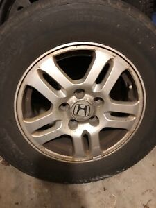 4 Honda alloy rims with Michelin defender summer