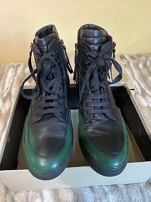 Bruno Bordese Nappa Neiro Sneakers (euro 46/ size US 13)