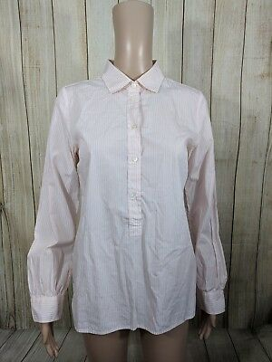 Used, J. Crew Womens Size XSmall Pink White Striped Cotton Popover Top for sale  Albany