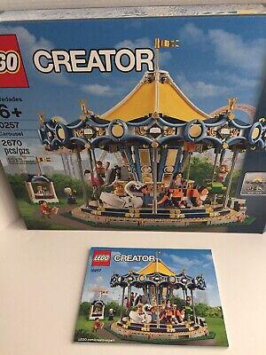 LEGO Creator Carousel 10257 with Manual Box & Motors **NO MINIFIGURES**