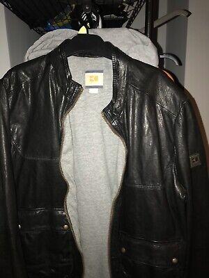 Hugo Boss||Black Leather Jacket || RRP £699.99|| Size XL