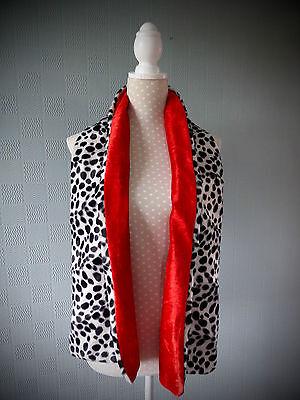 Children's Cruella de Ville stole Dalmatian print kid's wrap fancy dress outfit  - Cruella Deville Costume Kids
