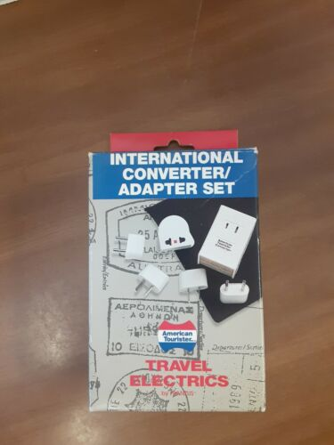 American Tourister International Plug In Converter Adapter Set NEW 18 Countries - $12.00