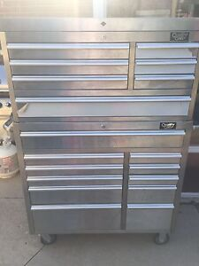18 drawer tool chest, stainless steel QUALITY CRAFT