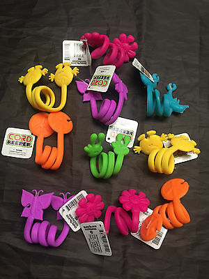 Lot of 10 Assorted Cord Keeper iPhone Charger, USB Cord & Cable Organizer