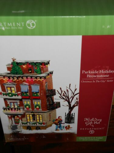 DEPT 56 Christmas In The City PARKSIDE HOLIDAY BROWNSTONE *STILL SEALED* NIB