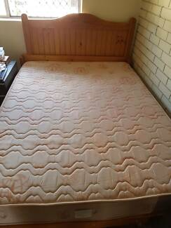 Double Bed, pine frame with mattress FREE