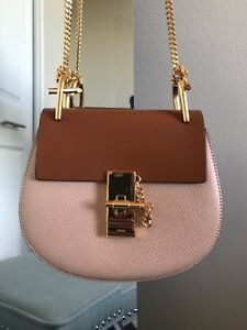 Chloe Powder Beige Mini Drew Bag