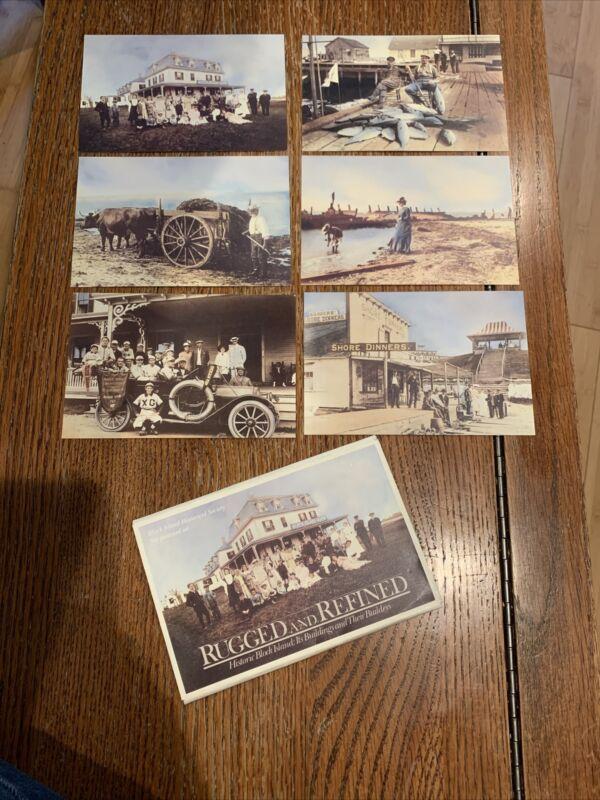 Set of 6 Vintage Block Island Historical Society Postcards Unused