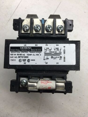 MT0100C Siemens Transformer .100KVA 120/240-24V