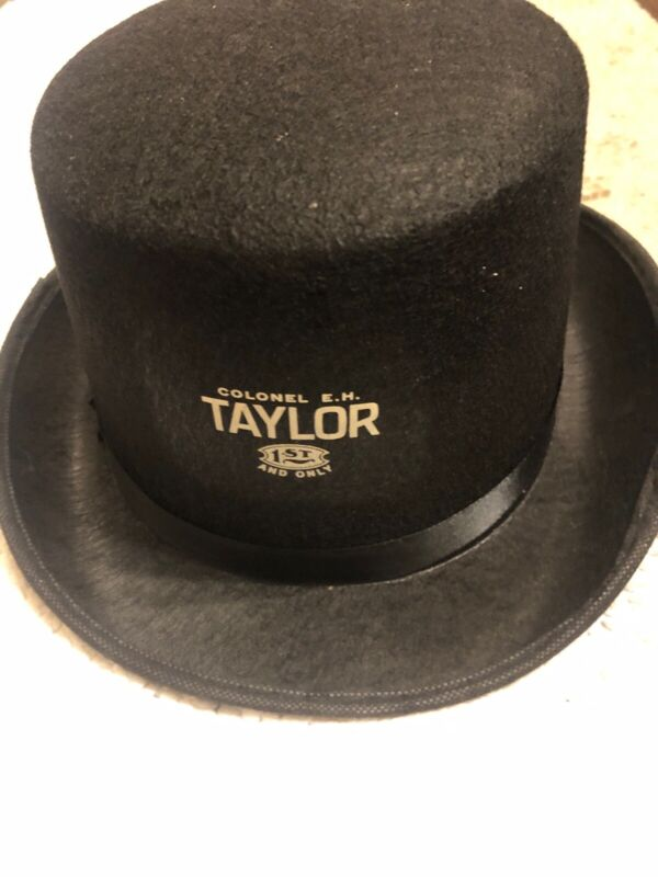 NEW COLONEL EH TAYLOR BOURBON WHISKEY TOP HAT CAP