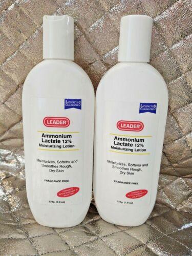Lot of 2 Leader Ammonium Lactate 12% Moisturizing Lotion Body Dry Skin 7.9 oz