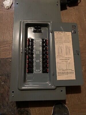 Federal Pacific 100 Amp Breaker Panel With Breakers