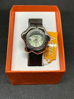 Activa Swiss Watch 495494 all Stainless Steel Ladies Watch Water Resistant Black