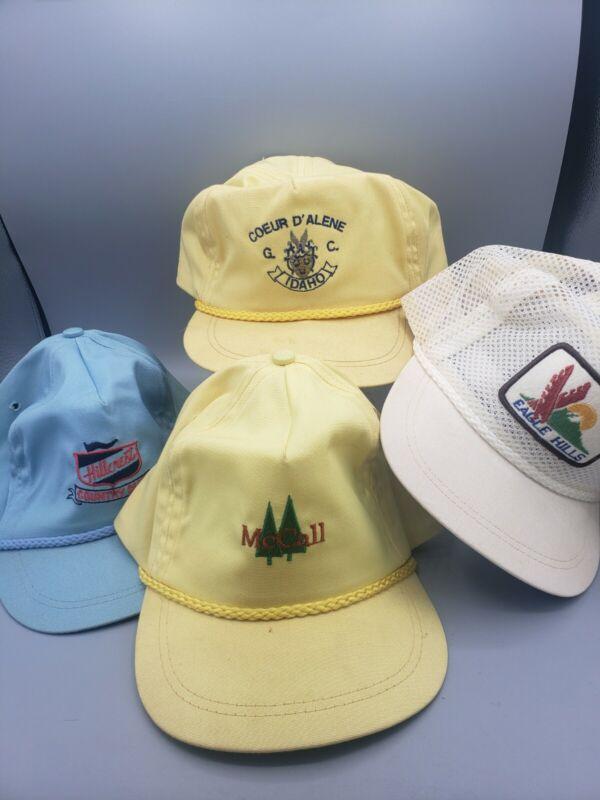 4 Baseball Cap Hat Idaho Country Golf Club McCall Coeur D