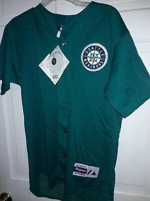 Seattle Mariners shirt MLB Majestic athletic baseball uniform Jersey NEW Small S Athletic Baseball Uniform