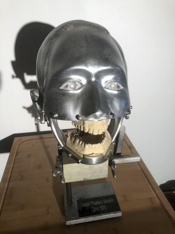 Antique Scientific Industrial Quack Medical Dental Phantom Manikin Steampunk
